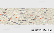Shaded Relief Panoramic Map of Bahu