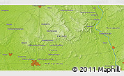 """Physical 3D Map of the area around 47°16'15""""N,2°37'30""""E"""
