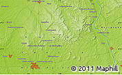 """Physical Map of the area around 47°16'15""""N,2°37'30""""E"""