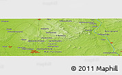 """Physical Panoramic Map of the area around 47°16'15""""N,2°37'30""""E"""