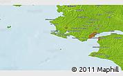 Physical 3D Map of Saint-Nazaire