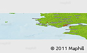 Physical Panoramic Map of Saint-Nazaire