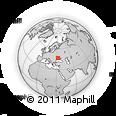 Outline Map of Dobryanka, rectangular outline