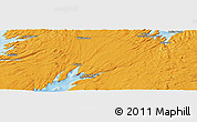 """Political Panoramic Map of the area around 47°16'15""""N,53°28'30""""W"""