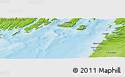 """Physical Panoramic Map of the area around 47°16'15""""N,54°19'30""""W"""