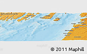 """Political Panoramic Map of the area around 47°16'15""""N,54°19'30""""W"""
