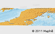 """Political Panoramic Map of the area around 47°16'15""""N,55°10'29""""W"""