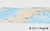 """Shaded Relief Panoramic Map of the area around 47°16'15""""N,55°10'29""""W"""