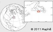 Blank Location Map of Miquelon