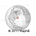 """Outline Map of the Area around 47° 16' 15"""" N, 57° 43' 30"""" W, rectangular outline"""