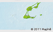 """Physical 3D Map of the area around 47°16'15""""N,61°58'30""""W"""
