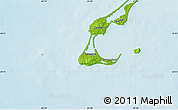 """Physical Map of the area around 47°16'15""""N,61°58'30""""W"""