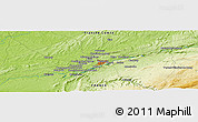 Physical Panoramic Map of Byans-sur-Doubs