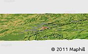 Satellite Panoramic Map of Byans-sur-Doubs