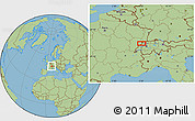 "Savanna Style Location Map of the area around 47°16'15""N,6°52'30""E"
