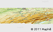 """Physical Panoramic Map of the area around 47°16'15""""N,6°52'30""""E"""