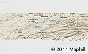 """Shaded Relief Panoramic Map of the area around 47°16'15""""N,6°52'30""""E"""