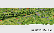Satellite Panoramic Map of Lausen