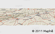 Shaded Relief Panoramic Map of Lausen