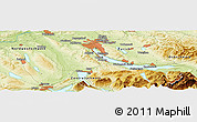 Physical Panoramic Map of Ruswil