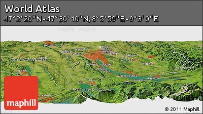 "Satellite Panoramic Map of the Area around 47°16'15""N,8°34'29""E"