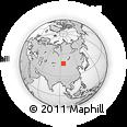 Outline Map of Bichigt, rectangular outline