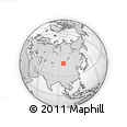 Outline Map of Tsagaanchuluut, rectangular outline