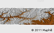 """Physical Panoramic Map of the area around 47°16'15""""N,98°40'30""""E"""