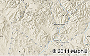 """Shaded Relief Map of the area around 47°16'15""""N,99°31'30""""E"""