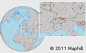 Gray Location Map of Vaduz