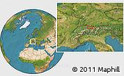 Satellite Location Map of Vaduz