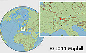 Savanna Style Location Map of Vaduz