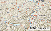 Shaded Relief Map of Vaduz