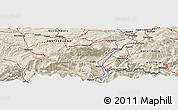Shaded Relief Panoramic Map of Herisau