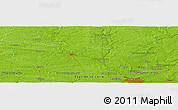 "Physical Panoramic Map of the area around 47° 41' 6"" N, 0° 46' 30"" W"
