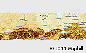 """Physical Panoramic Map of the area around 47°41'6""""N,11°7'30""""E"""