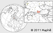 """Blank Location Map of the area around 47°41'6""""N,11°58'29""""E"""