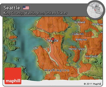 Free Satellite 3D Map of Seattle