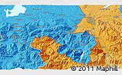 Political 3D Map of Salzburg