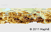 "Physical Panoramic Map of the area around 47° 41' 6"" N, 12° 49' 29"" E"
