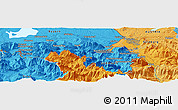 Political Panoramic Map of Salzburg