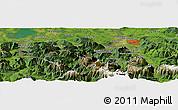 Satellite Panoramic Map of Salzburg