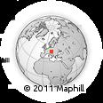 Outline Map of Salzkammergut, rectangular outline