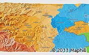 Political 3D Map of Eisenstadt