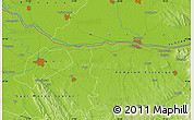 Physical Map of Győr