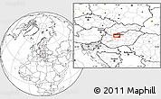 Blank Location Map of Gellérthegy