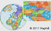 Political Location Map of Gellérthegy