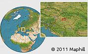 Satellite Location Map of Gellérthegy