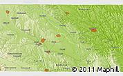 Physical 3D Map of Sfîntu Ilie