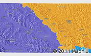 Political 3D Map of Suceava